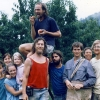 Group photo. Peach picking trip (probably to a distant VA commune named Sojourners).
