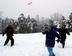 Winter Ultimate Frisbee