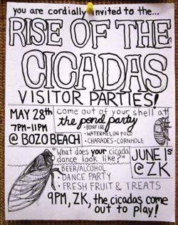 Cicada Themed Visitor Parties
